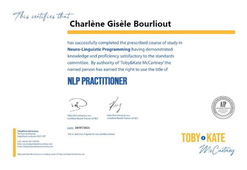 NLP Practioner Certificate